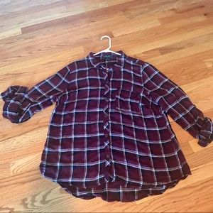 FOREVER 21 Plus plaid flannel